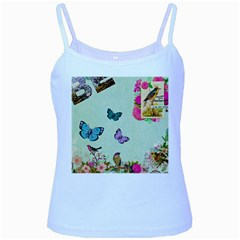 Collage Baby Blue Spaghetti Tank by 8fugoso