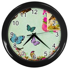 Collage Wall Clocks (black) by 8fugoso