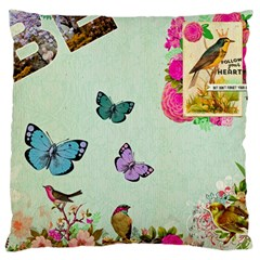Collage Large Flano Cushion Case (two Sides) by 8fugoso