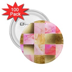 Collage Gold And Pink 2 25  Buttons (100 Pack)  by 8fugoso