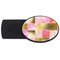 Collage Gold And Pink Usb Flash Drive Oval (2 Gb) by 8fugoso