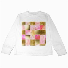 Collage Gold And Pink Kids Long Sleeve T Shirts by 8fugoso