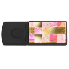 Collage Gold And Pink Rectangular Usb Flash Drive by 8fugoso
