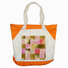 Collage Gold And Pink Accent Tote Bag by 8fugoso