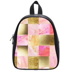 Collage Gold And Pink School Bag (small) by 8fugoso