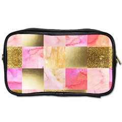 Collage Gold And Pink Toiletries Bags 2 Side by 8fugoso