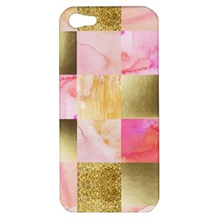 Collage Gold And Pink Apple Iphone 5 Hardshell Case