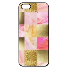Collage Gold And Pink Apple Iphone 5 Seamless Case (black) by 8fugoso