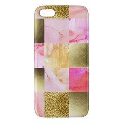 Collage Gold And Pink Iphone 5s/ Se Premium Hardshell Case by 8fugoso
