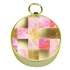 Collage Gold And Pink Gold Compasses by 8fugoso