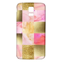Collage Gold And Pink Samsung Galaxy S5 Back Case (white) by 8fugoso