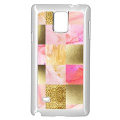 Collage Gold And Pink Samsung Galaxy Note 4 Case (white) by 8fugoso