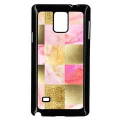 Collage Gold And Pink Samsung Galaxy Note 4 Case (black) by 8fugoso