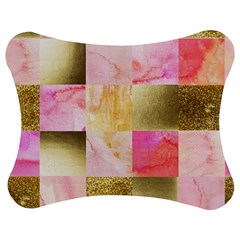 Collage Gold And Pink Jigsaw Puzzle Photo Stand (bow) by 8fugoso
