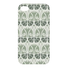 Teal Beige Apple Iphone 4/4s Hardshell Case by 8fugoso