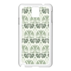 Teal Beige Samsung Galaxy Note 3 N9005 Case (white) by 8fugoso