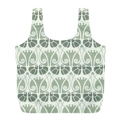 Teal Beige Full Print Recycle Bags (l)  by 8fugoso