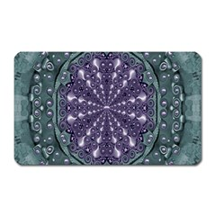 Star And Flower Mandala In Wonderful Colors Magnet (rectangular) by pepitasart