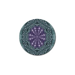 Star And Flower Mandala In Wonderful Colors Golf Ball Marker (10 Pack) by pepitasart