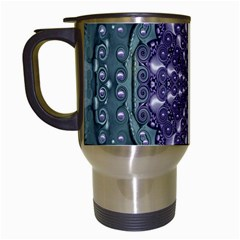 Star And Flower Mandala In Wonderful Colors Travel Mugs (white) by pepitasart