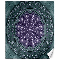 Star And Flower Mandala In Wonderful Colors Canvas 20  X 24   by pepitasart