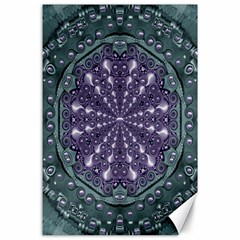 Star And Flower Mandala In Wonderful Colors Canvas 24  X 36  by pepitasart