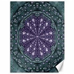 Star And Flower Mandala In Wonderful Colors Canvas 36  X 48