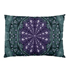 Star And Flower Mandala In Wonderful Colors Pillow Case by pepitasart
