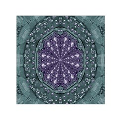 Star And Flower Mandala In Wonderful Colors Small Satin Scarf (square) by pepitasart