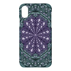 Star And Flower Mandala In Wonderful Colors Apple Iphone X Hardshell Case by pepitasart