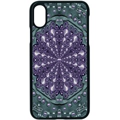 Star And Flower Mandala In Wonderful Colors Apple Iphone X Seamless Case (black) by pepitasart
