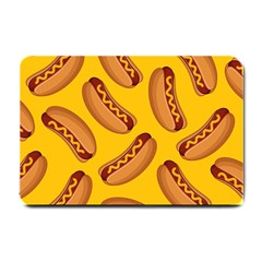 Hot Dog Seamless Pattern Small Doormat  by Celenk