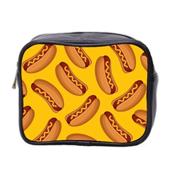 Hot Dog Seamless Pattern Mini Toiletries Bag 2 Side by Celenk