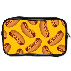 Hot Dog Seamless Pattern Toiletries Bags by Celenk