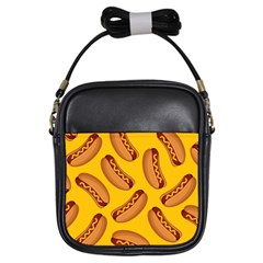 Hot Dog Seamless Pattern Girls Sling Bags