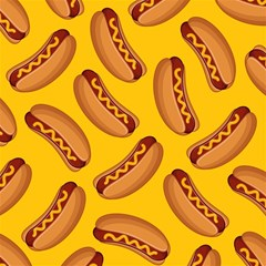Hot Dog Seamless Pattern Magic Photo Cubes by Celenk