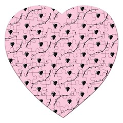 Love Hearth Pink Pattern Jigsaw Puzzle (heart) by Celenk