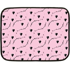 Love Hearth Pink Pattern Fleece Blanket (mini) by Celenk