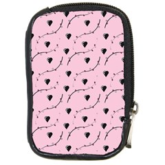 Love Hearth Pink Pattern Compact Camera Cases by Celenk