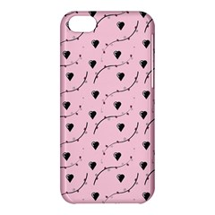 Love Hearth Pink Pattern Apple Iphone 5c Hardshell Case by Celenk