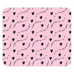 Love Hearth Pink Pattern Double Sided Flano Blanket (small)  by Celenk