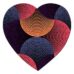 Geometric Swirls Jigsaw Puzzle (heart) by Celenk