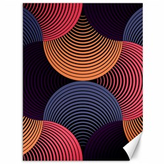 Geometric Swirls Canvas 36  X 48   by Celenk