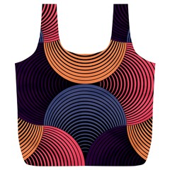 Geometric Swirls Full Print Recycle Bags (l)  by Celenk