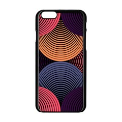 Geometric Swirls Apple Iphone 6/6s Black Enamel Case by Celenk