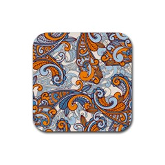 Paisley Pattern Rubber Coaster (square)