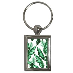 Banana Leaves And Fruit Isolated With Four Pattern Key Chains (rectangle)  by Celenk