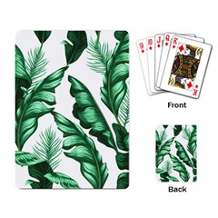 Banana Leaves And Fruit Isolated With Four Pattern Playing Card by Celenk