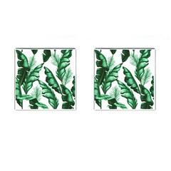 Banana Leaves And Fruit Isolated With Four Pattern Cufflinks (square) by Celenk