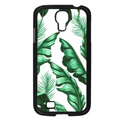 Banana Leaves And Fruit Isolated With Four Pattern Samsung Galaxy S4 I9500/ I9505 Case (black) by Celenk